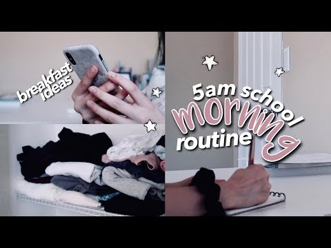 5AM SCHOOL MORNING ROUTINE ☆ Back To School 2019