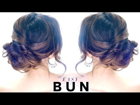 3-Minute Elegant SIDE BUN Hairstyle