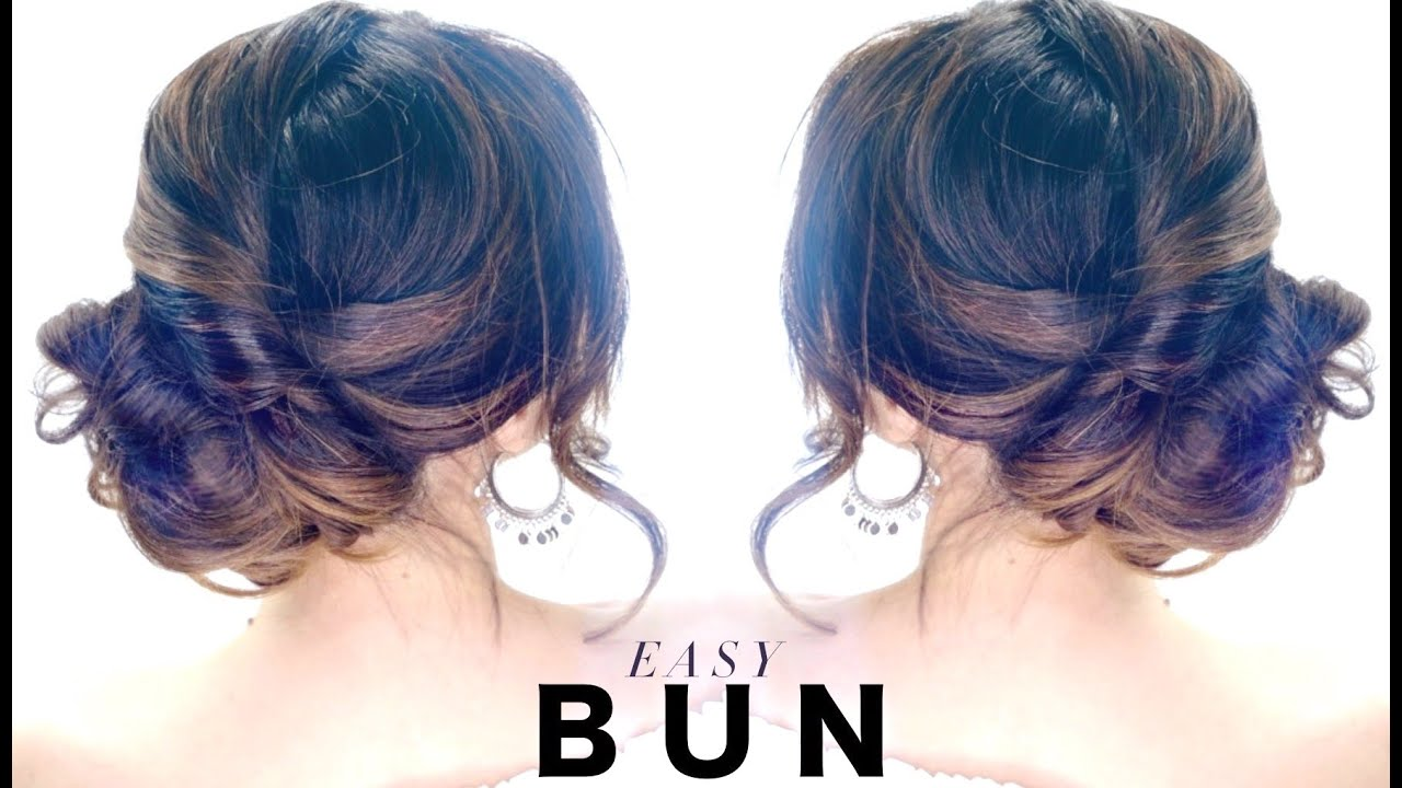 3 Minute Elegant SIDE BUN Hairstyle ☆ EASY Summer Updo HAIRSTYLES   YouTube