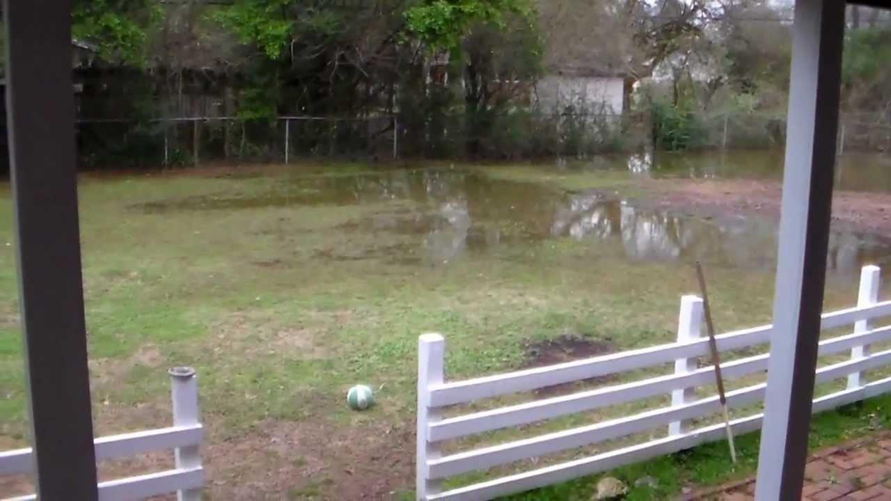 my flooded backyard 2 2 1 20 13 youtube