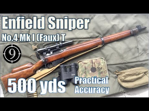 Enfield No.4 MkI Sniper (faux-T) to 600yds: Practical Accuracy (2.5x Vintage Weaver scope)