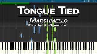 Marshmello x YUNGBLUD x blackbear - Tongue Tied (Piano Cover) Synthesia Tutorial