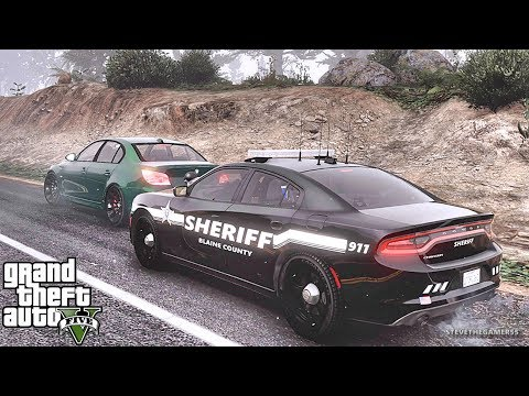 GTA 5 MODS LSPDFR 888 - SHERIFF CHARGER PATROL!!! (GTA 5 REAL LIFE PC MOD)