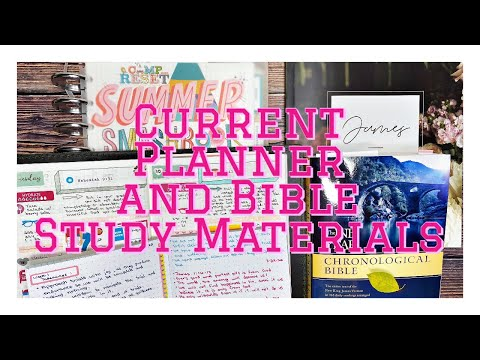 current-planner,-bible-study-materials,-and-crafting-books-|-mid---year-review