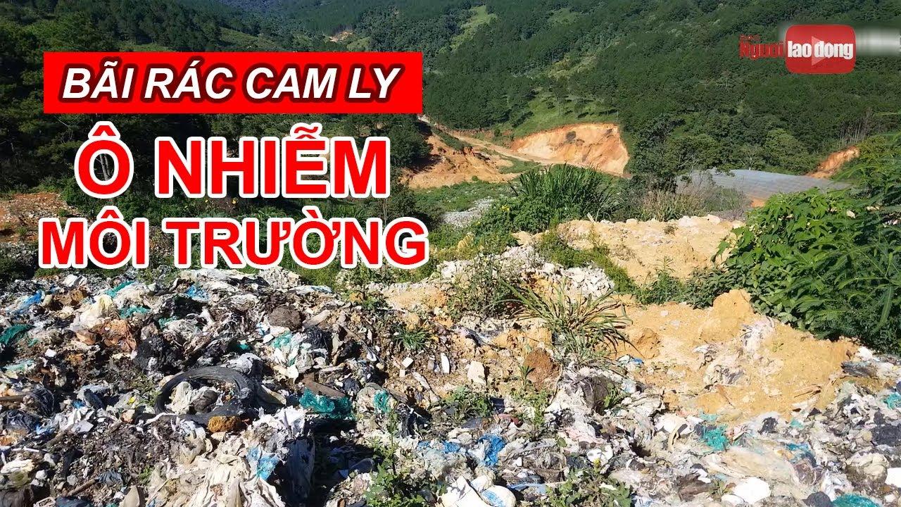 Núi rác Cam Ly Đà Lạt tiếp tục sạt lở uy hiếp vườn người dân