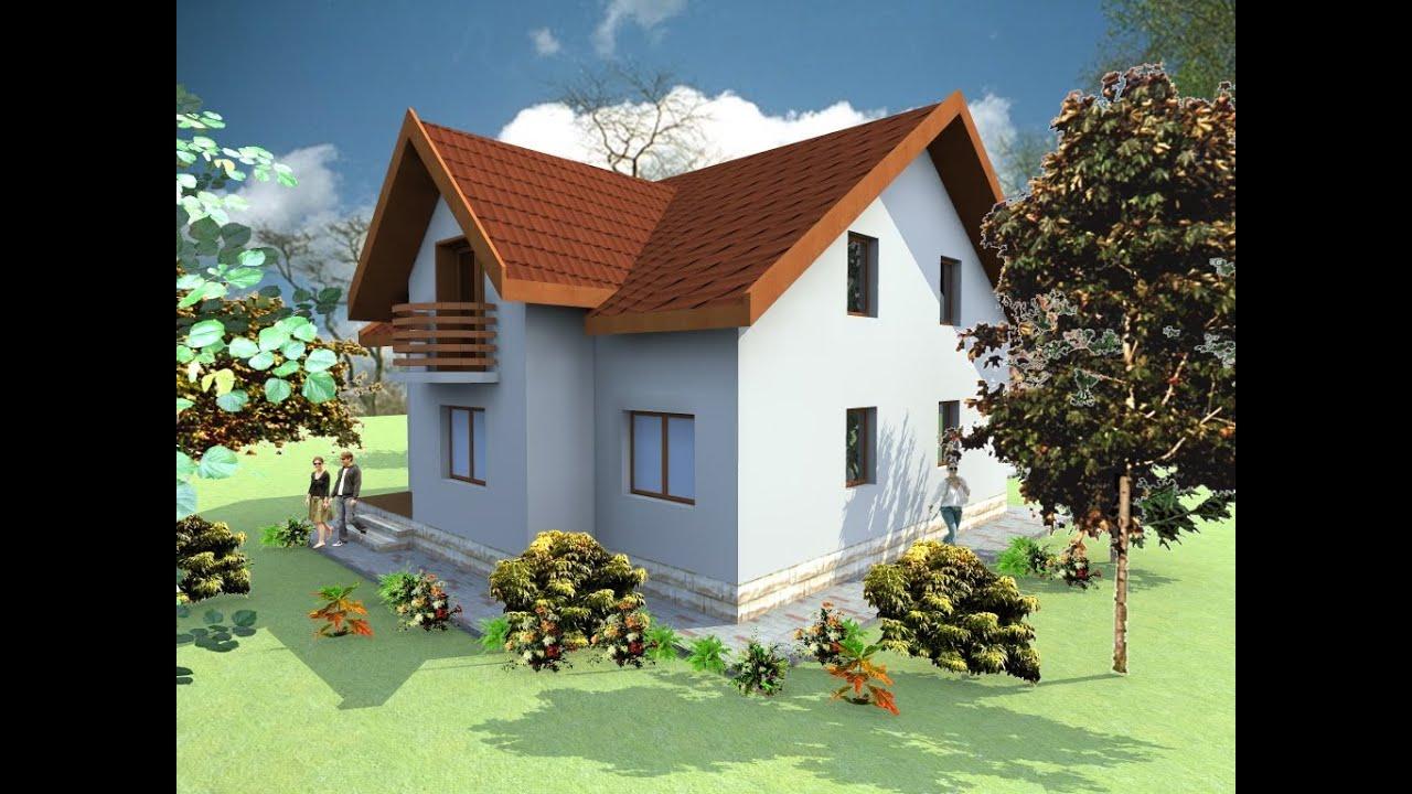 Proiecte case si vile cu mansarda casa b61 arhitect iasi for Youtube case cu mansarda