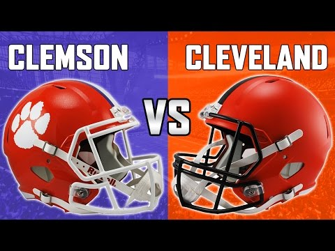 WHAT IF THE CLEMSON TIGERS PLAYED THE CLEVELAND BROWNS? |  2017 NATIONAL CHAMPS! MADDEN 17