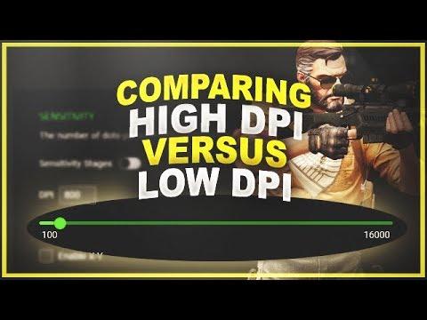 Comparing High DPI Vs Low DPI