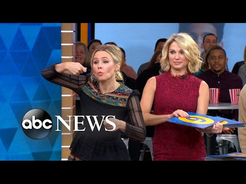 Anthony Anderson and Kristen Bell play running charades live on