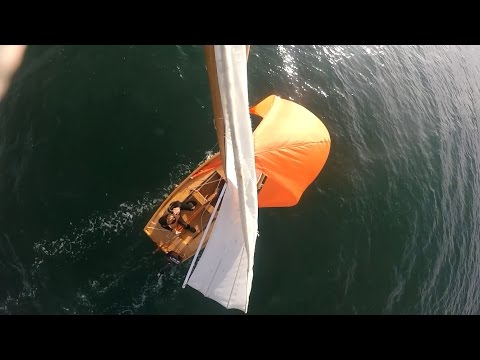 Flying a spinnaker on a Mirror Dinghy