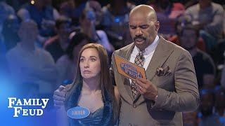 Kathy and Amber are ON FIRE! | Family Feud