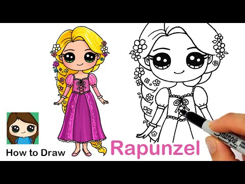 How To Draw Princess Rapunzel Disney Tangled Youtube