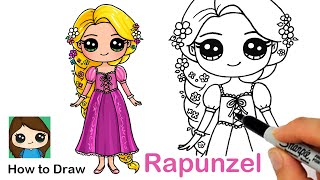 How to Draw Princess Rapunzel | Disney Tangled