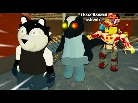 ROBLOX PIGGY HARD MODE: FLOODED SCHOOL!!