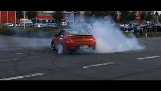 Car Show in Germany escalates completely ! Burnouts, Backfire, Donuts, Sound
