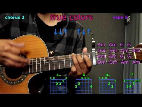 true colors zedd kesha guitar chords