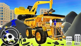 City Excavator Simulator Road Builder - Mega Tunnel Construction - Android GamePlay