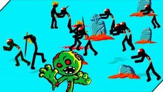 СТИКМЕНЫ против ЗОМБИ СТИКМЕНОВ - Игра Stick War Legacy Zombie Mode. Андроид игры