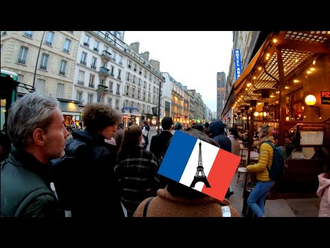 ⁴ᴷ Paris Sunset Walking Tour 🇫🇷 Saint-Germain-des-Prés And Rue De Rennes, France 4K