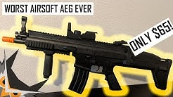 WORST AIRSOFT AEG EVER | FN Herstal Licensed SCAR-L Full Size LPAEG CYBERGUN