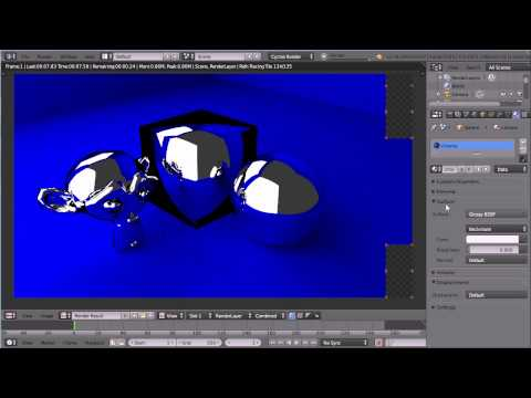 Blender Materials Tutorial - Making Simple Metal Materials Using the Cycles Render (Chrome, Gold)