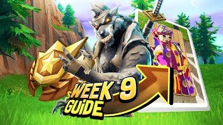 FORTNITE WEEK 9 GUIA DE DESAFIOS! -Locais de quadros de palhaço, Secret Star (temporada de Battle Royale 6)