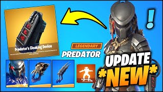 Everything NEW in FORTNITE Predator v15.21 (New Predator NPC, Mythic Weapon and Free Skin & Emote!)