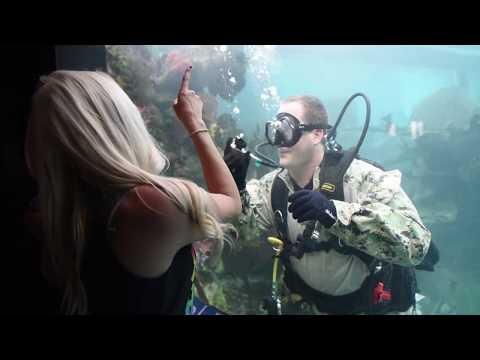 Navy Divers At NY Aquarium - FWNY 2017