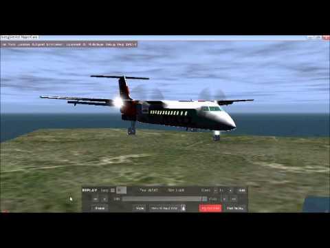 Flightgear dash8-Q300 Landing at RCQC(Magong)