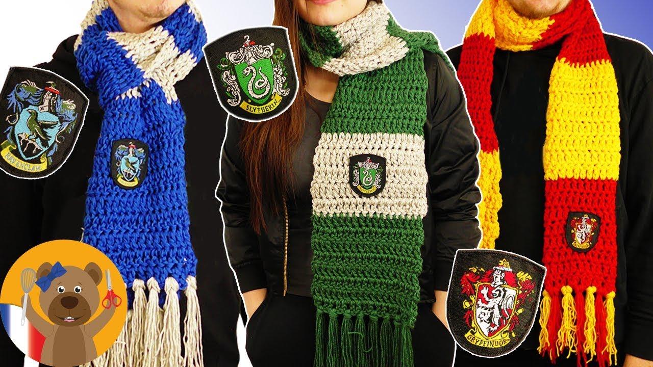 Crocheter Une Echarpe D Une Maison Harry Potter Hogwarts Diy