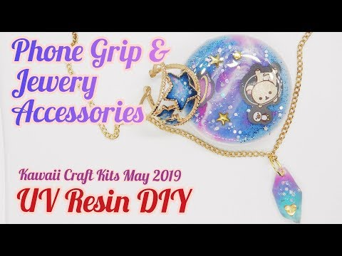 UV Resin DIY Phone Grip & Jewelry Accessories Kawaii Craft Kits May 2019 (PG-13)