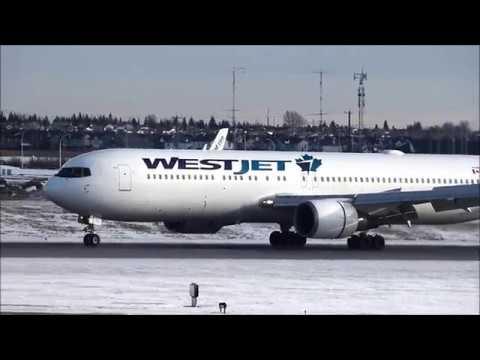 Plane spotting at Calgary Int'l Airport YYC Jan  8, 2018