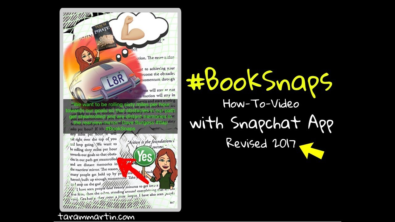 BookSnaps – How-To-Videos and Examples – Be REAL