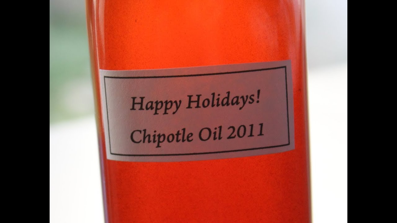 Chipotle Oil - Great Edible Holiday Gift Idea!