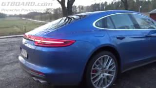 [4k] NEW Porsche Panamera Turbo with Sports exhaust system testdrive