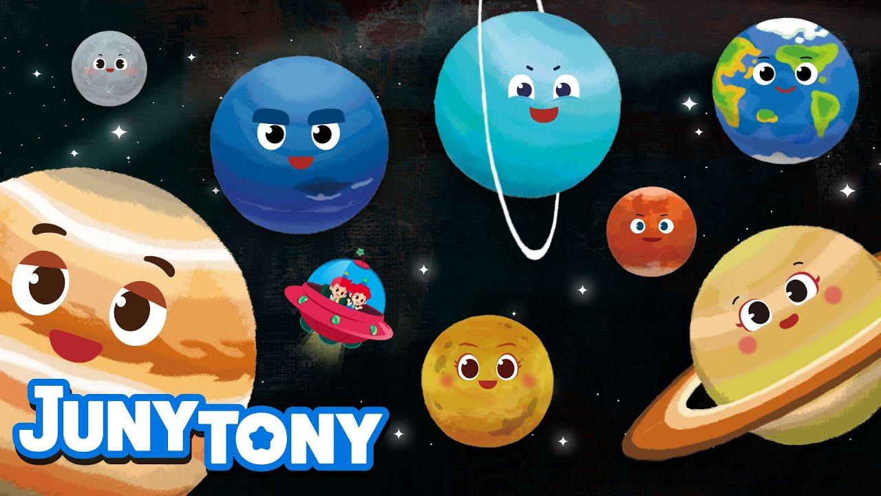 Ocho Planetas | Canción de Universo | Mercurio, Venus, Tierra, Marte y más | Juny Tony en español