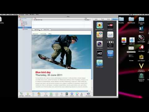 Building and Hosting a website with iWeb