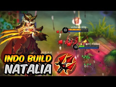 NEW INDONESIAN NATALIA BUILD IS INSANE! Mobile Legends