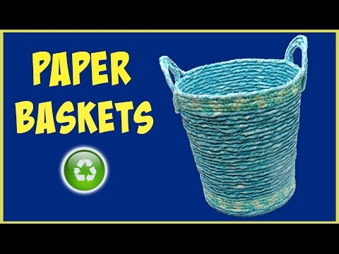 DIY Newspaper baskets. Cestas de papel.