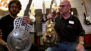 Fun with some resonator guitars. Mike Fey and Dan Kuse demo two Rep...
