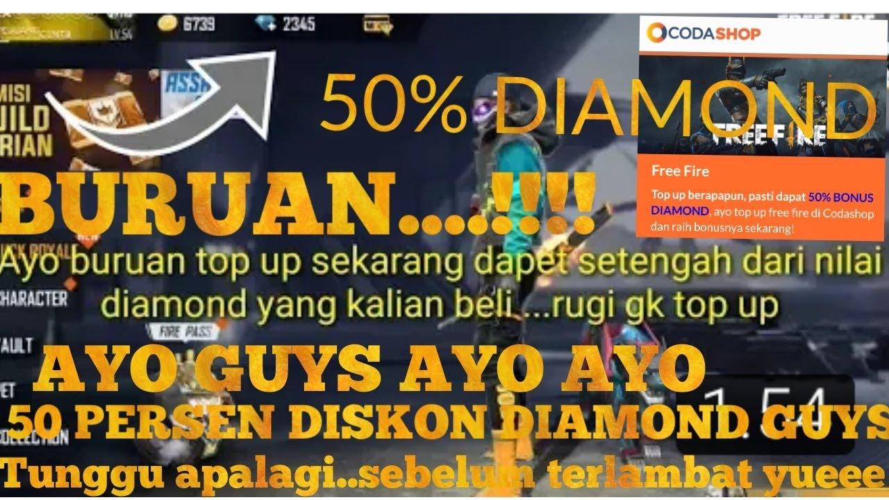 Buruan Top Up Di Coda Shop Ada Diskon 50 Bonus Diamond Ini Cara Dapetinnya Youtube