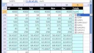 Excel Magic Trick #154: Personal Budgets and VLOOKUP