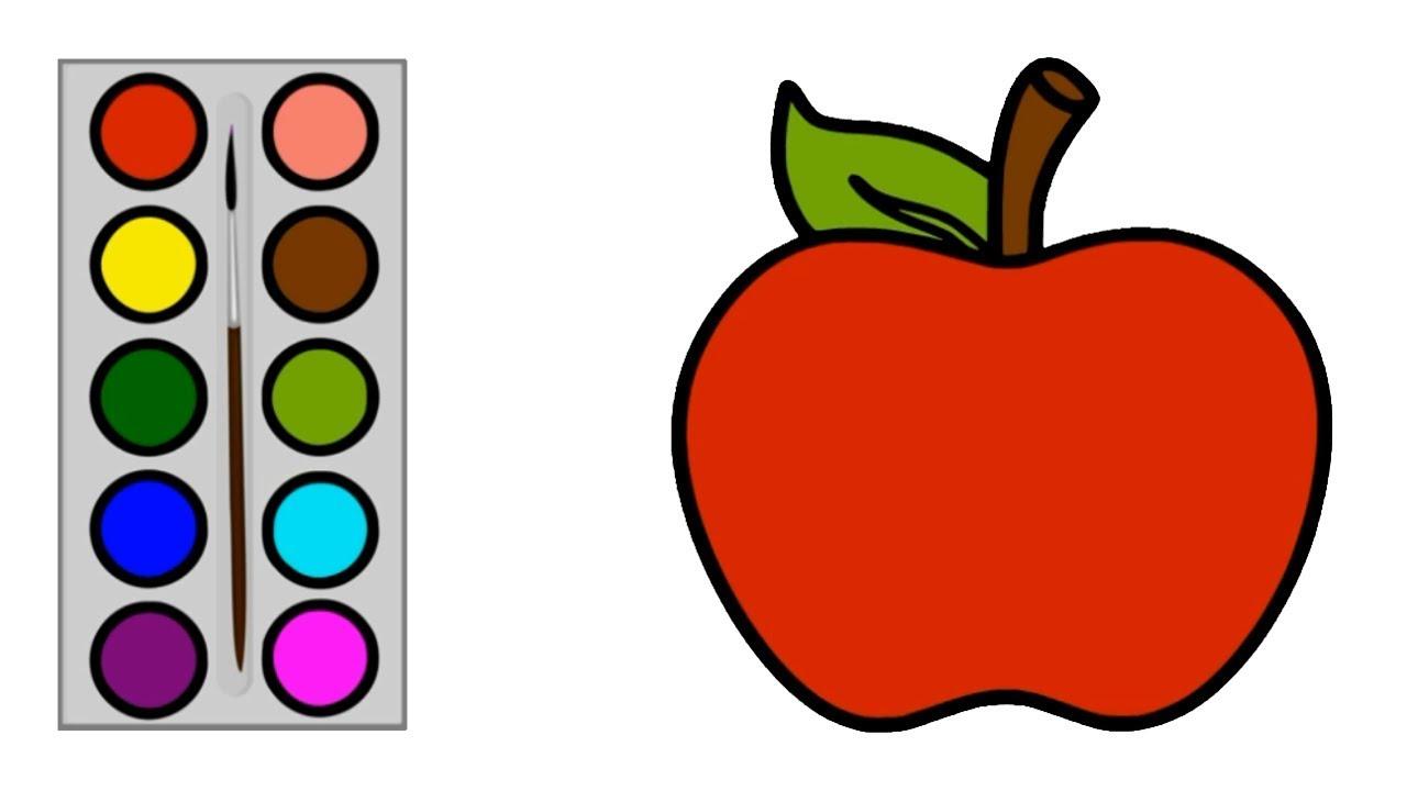 Cara Menggambar Buah Apel