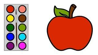 101 Gambar Apel Merah Mewarnai Terbaik