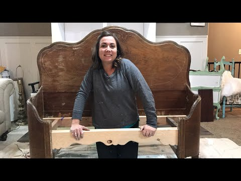 Painting a Headboard Bench | Market Prep