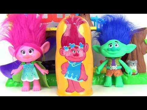 Compilation Nesting Dolls Peppa Pig, Powerpuff Girls, Trolls, Disney MOANA Toy Surprises / TUYC