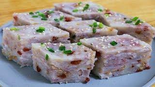 芋頭糕最好吃的做法,加兩根香腸,粉糯好吃,廣東早茶最常見的做法【夏媽廚房】