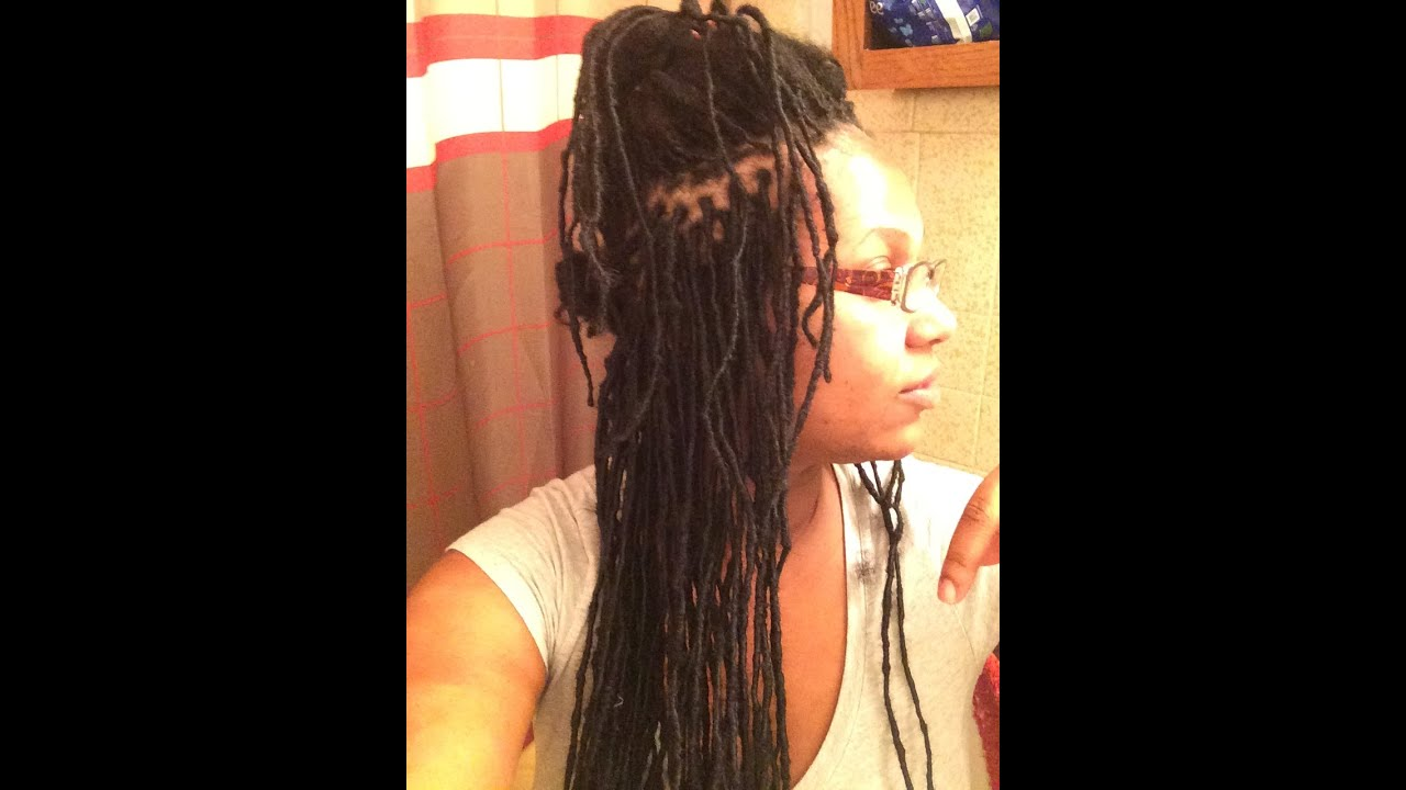 Permanent Loc Extensions W Human Hair Pt 2 Of My Progress Done By Me You