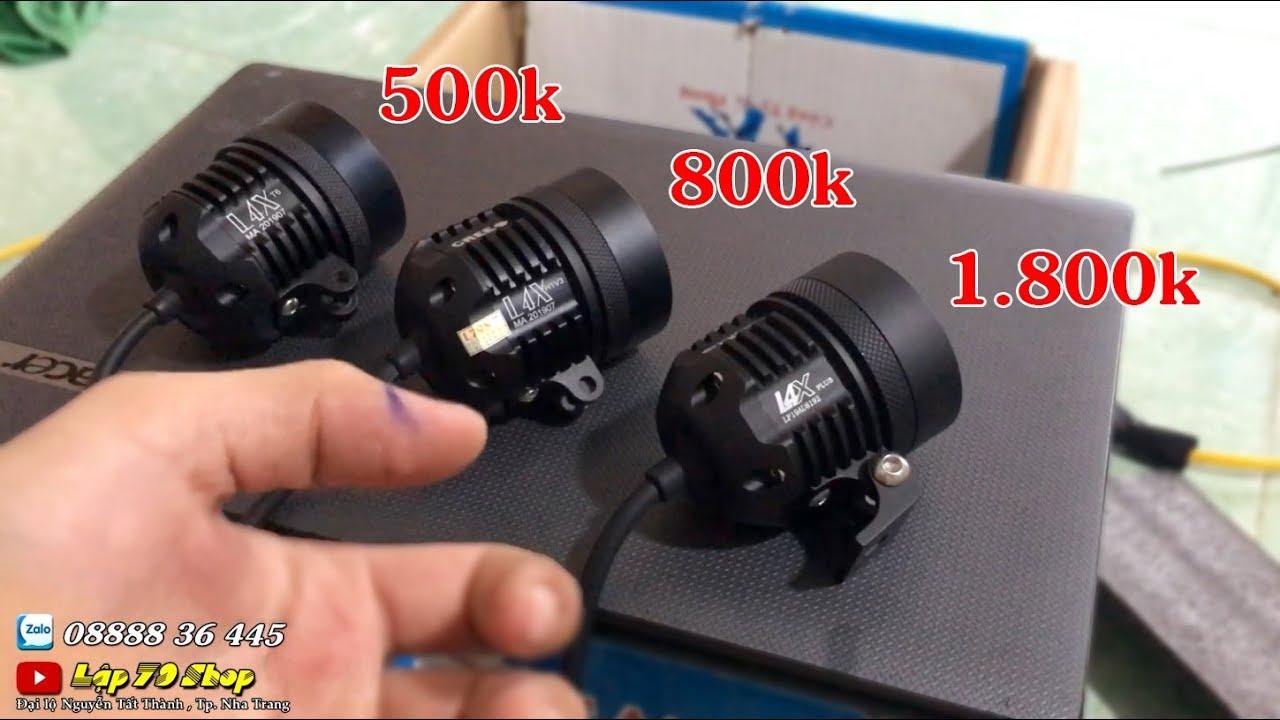 [Phần 1] So sánh đèn l4x F1 500k , l4x super fake 800k , l4x xịn chính hãng 1800k – Lập 79 Shop