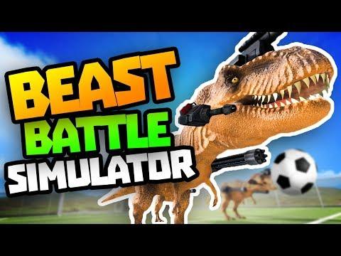 DUMBEST SOCCER GAME EVER - Beast Battle Simulator Gameplay - Dinosaur Football Sandbox